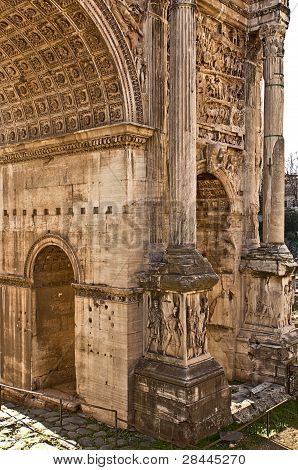 An ancient Roman arch
