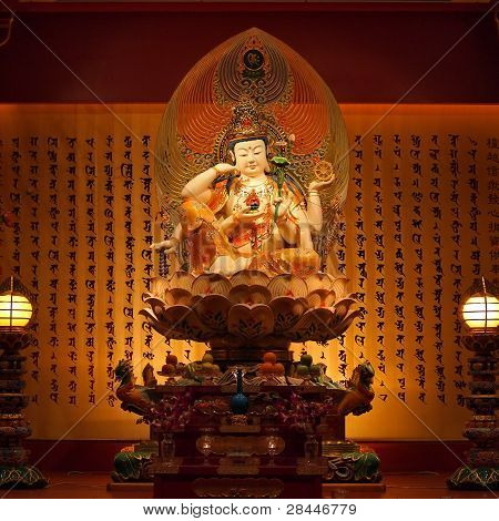 Guan Yin in chinese temple