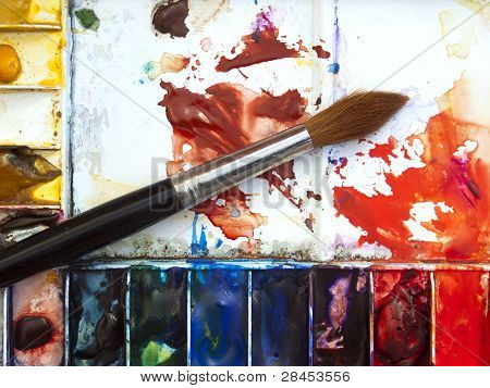 Watercolour paintbox