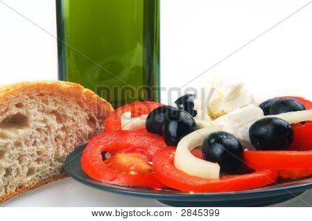 Olive Oil Bread Tomato Close Up