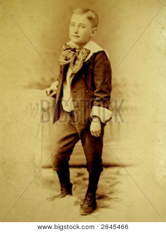 Photo Of A Boy From 1885