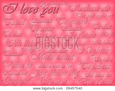 Multi-language romantic card