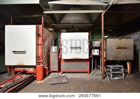 Three Industrial Electric Furnaces For
