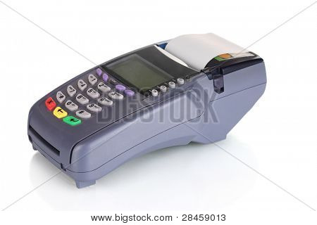 bank terminal isolated on white