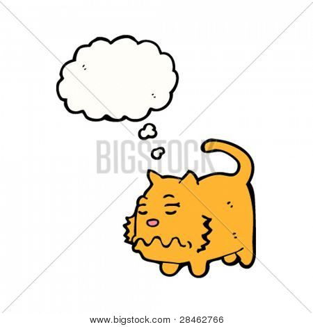 nauseous cat cartoon
