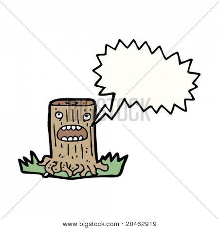 talking tree stump cartoon