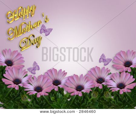 Mothers Day Flowers And Butterflies