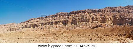 Rim wall of desert canyon