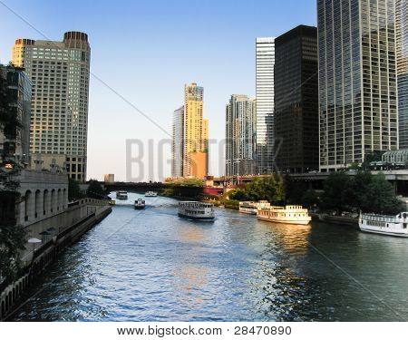 View of the Chicago River, Chicago