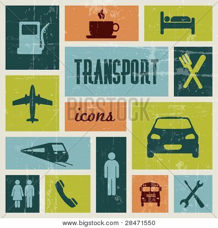 Vektor Jahrgang Transport (Verkehr) poster