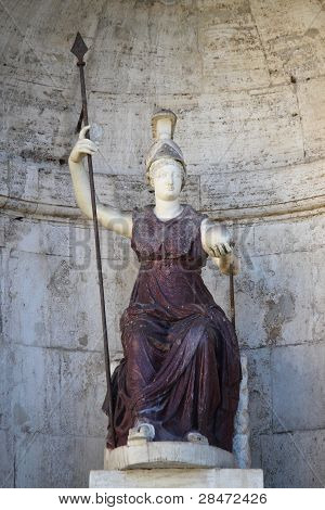 Statue of the goddess Roma