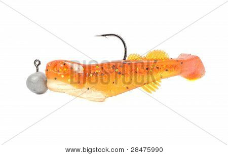 Silicon Fishing Twister With Hook And Sinker