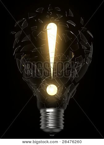 Lightbulb Idea Exclamation Point