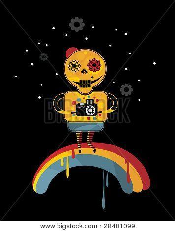 Skeleton on the rainbow.