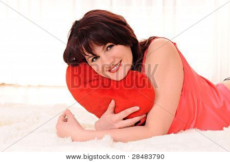 Woman With Plush Heart