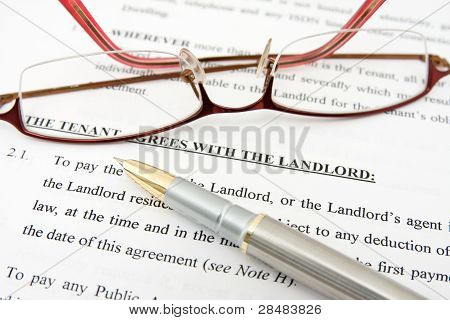 Tenant Agreement With The Landlord