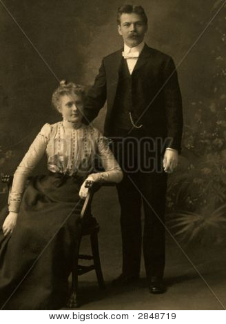 Vintage 1907 Wedding Photo