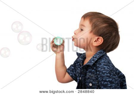 Little Boy Blow Bubbles