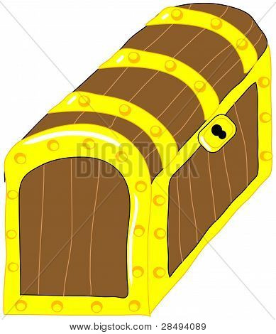 Treasure chest vector clip art