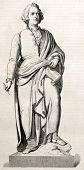 stock photo of mozart  - Wolfgang Amadeus Mozart bronze statue in Salzburg - JPG