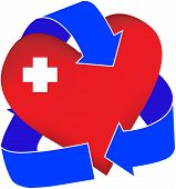 picture of cpr  - A graphic representation of a first - JPG