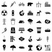 Environmental Icons Set. Simple Style Of 36 Environmental Icons For Web Isolated On White Background poster