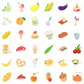 Tasty Breakfast Icons Set. Cartoon Style Of 36 Tasty Breakfast Icons For Web Isolated On White Backg poster
