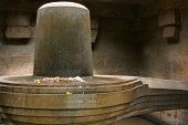 image of lingam  - Shiva Linga is a form that represents the Hindu god Shiva - JPG