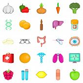 Therapist Icons Set. Cartoon Set Of 25 Therapist Icons For Web Isolated On White Background poster