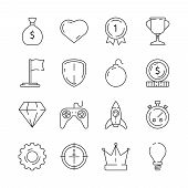 Gamification Icon. Business Rules Achievement For Workers Challenge Motivation Competitive Advantage poster