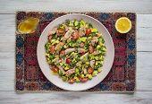 Avocado Tuna Salad. Chili Avocado Zesty Quinoa Salad With Tuna. poster
