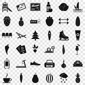 Wellness Loss Icons Set. Simple Style Of 36 Wellness Loss Vector Icons For Web For Any Design poster