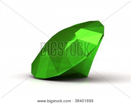 Splendid Emerald Made In Form Of The Diamond