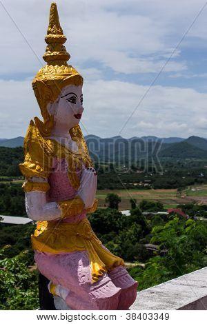 Thai Angel In In Wat Phrataddoitae