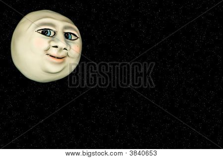 Face In The Moon-Clipping Path