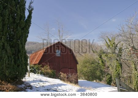 Snow Barn Horizontal