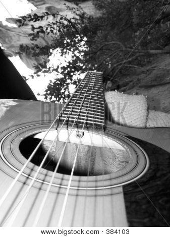 Acoustic Guitar B&w
