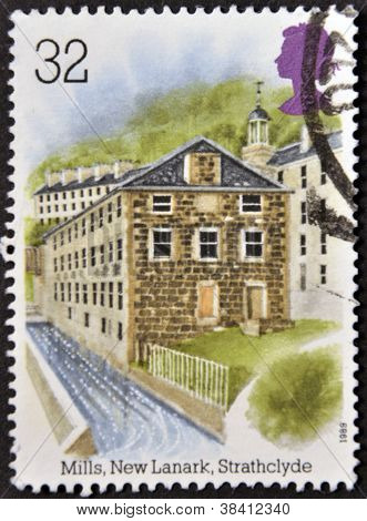 UNITED KINGDOM - CIRCA 1989: A stamp printed in Great Britain dedicated to Industrial Archaeology sh