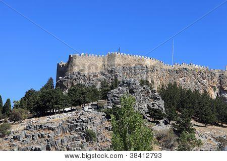 Landscape Of Lindos Acropolis