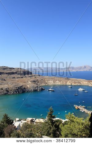 Landscape Of Lindos Bay