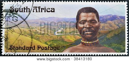 SOUTH AFRICA - CIRCA 2006: A stamp printed in RSA dedicated to Centennial Bhambatha Rebellion circa