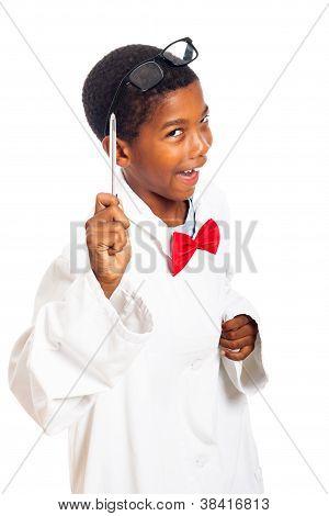 Divertido niño inteligente