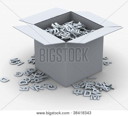 3D Box Of Alphabets