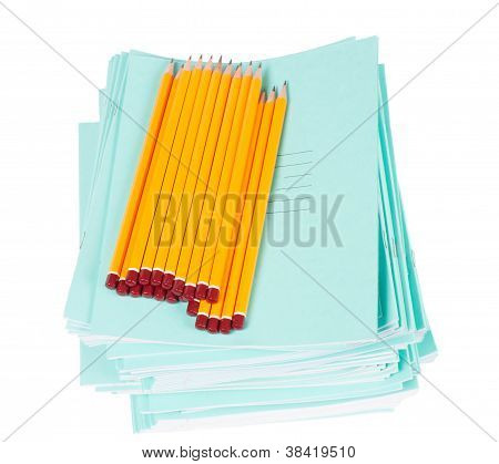 School Notebooks And Pencils