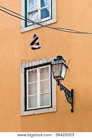 Hanging Sneakers In Lisbon