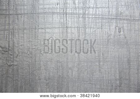 Silver Painted Wooden Panel