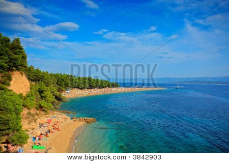 Zlatni Rat Beach On The Island Of Brac