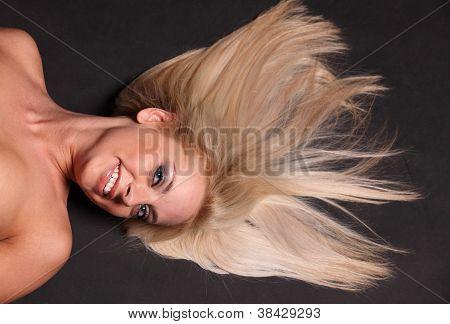 Blond Hair On Black