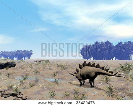 Stegosaurus Looking For Water