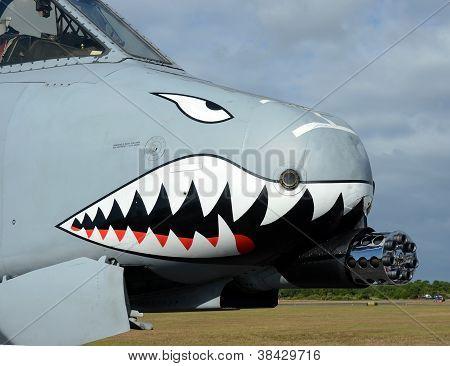 Modern Gunship Airplane